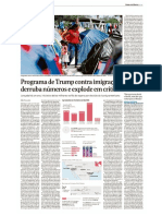 Programa de Trump contra imigração derruba em números e explode em críticas