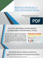 ARGUMENTOS A FAVOR DE LA ATENCIÓN Y EDUCACIÓN