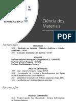 Aula 01 - Ligações Químicas e Estrutura Atômica
