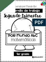 Matemáticas Primer grado 2do trimestre mundoABC
