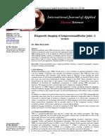 Diagnostic Imaginf of Tmj- A Review