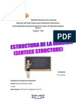 Estructura de la oración (sentence structure)