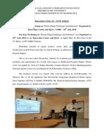 Report on PATENT workshop 30.07.2019