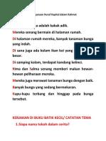Penggunaan Huruf Kapital dalam Kalimat