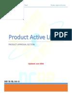 Active product list June 2016