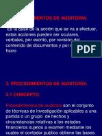 2.0 Procedimientos de Auditoria