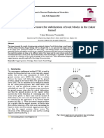 Analysis of support pressure for stabilization of rock blocks in the Zaker tunnel