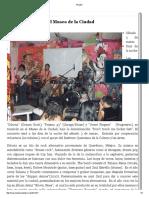 Festival de rock en el Museo de la Ciudad – Museo de la Ciudad