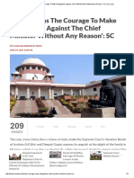 'Nobody Has The Courage To Make Allegations Against The Chief Minister Without Any Reason'_ SC _ Live Law