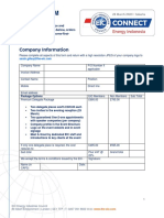 EIC Delegate Package Application Form - Indonesia 2020