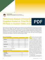 Performance Analysis of Tracker & Fixed tilt