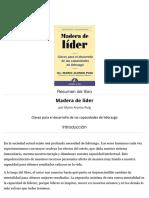 Mario Alonso Puig Resumen del libro 'Madera de líder' Artículo