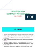 1- Hémogramme normal et pathologique.pptx