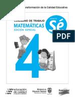 4º CUADERNO DE TRABAJO MAT PROY SE
