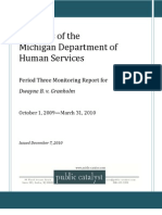 Progress of the Michigan Department of Human Services, Period Three Monitoring Report, Dec 7, 2010