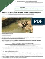 Escasez de agua en el mundo_ causas y consecuencias