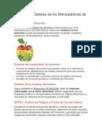 Definición y Deberes de los Manipuladores de Alimentos