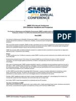 2019SMRPAnnualConferenceExhibitorHandbookProspectusV1