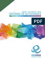 Informe anual 2015 CEDIA