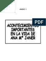 Anexo 1 - ACONTECIMIENTOS IMPORTANTES DE LA VIDA DE ANA Mª JANER