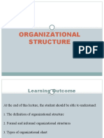 Lecture 9-10 (Organizational Structure)