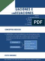 ECUACIONES E INECUACIONES-MATEMÁTICA