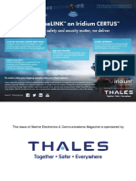 Thales VesseLINKTM on Iridium CERTUSSM