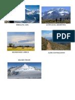 Contaminación del Agua, clasificacion de la placas, distribucion de terremotos
