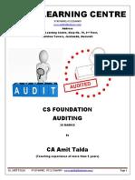 Auditing (30 Marks) (Foundation)-Foundation-Revision