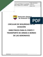 GSA-CR-012-R Directrices porte y transporte de armas a bordo