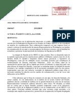 Resposta del govern espanyol