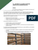 CAPÍTULO 2 ARCHIVO Y CLASIFICACIÓN DE DOCUMENTACIÓN ADMINISTRATIVA