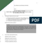 Paket Soal bahasa inggris smp 2010/2011