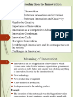 Introduction to Innovation - UNIT 1