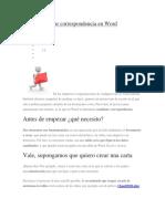Cómo combinar correspondencia en Word.docx