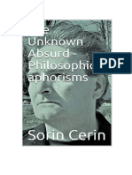 The Unknown Absurd - Philosophical aphorisms by Sorin Cerin