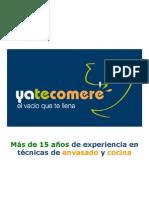 Presentacion Yatecomere