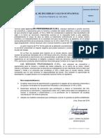 SSO-PO01.04 - POLITICA FRENTE AL VIH - SIDA
