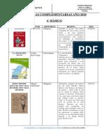 LIBROS LECTURA COMPLEMENTARIA 6 básico 2020