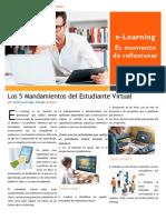 Actividad 2.1 Los 5 Mandamientos del Estudiante Virtual