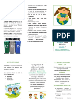 folleto RECICLAJE