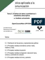 Tema 5.1. Análisis de datos cuantitativos I. Univariante