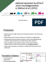 Moreno Mallucci et al. (2012) presentation Luke Daly-Ronayne