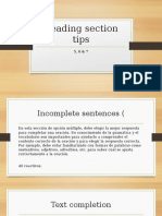 Reading Section Tips