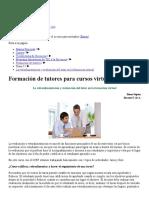 Formación de tutores_ La retroalimentación y evaluación del tutor en la formación virtual
