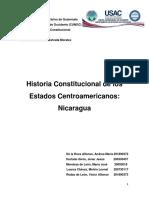 HISTORIA CONSTITUCIONAL DE LOS ESTADOS CENTROAMERICANOS. NICARAGUA