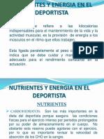 NUTRIENTES Y ENERGIA EN LA NUTRICIÓN DEL DEPORTISTA