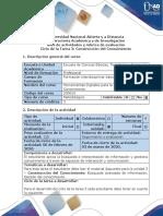 Guía de actividades y rúbrica de evaluación - Ciclo de la Tarea 3 - Reconocimiento de la construcción del conocimiento(1)