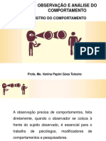 Aula 5 Registro do Comportamento