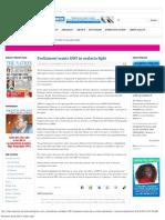 Parliament Wants DDT in Malaria Fight